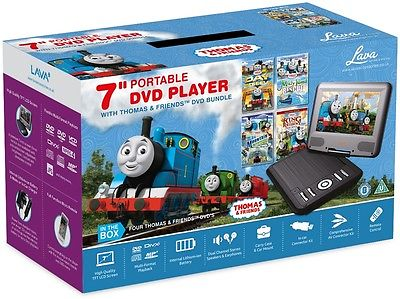 Lava 7 inch Portable DVD Player with Thomas and Friends Bundle
