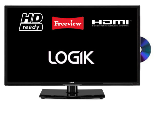 Logik L24HED16 24 Inch LED TV with DVD Player And Freeview