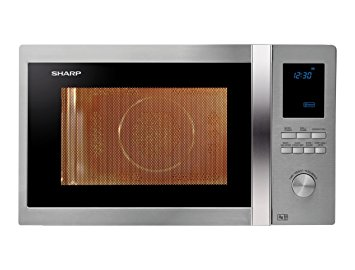 Sharp R922STM Combi Microwave Oven in Stainless Steel 32L 1000W - Click Image to Close