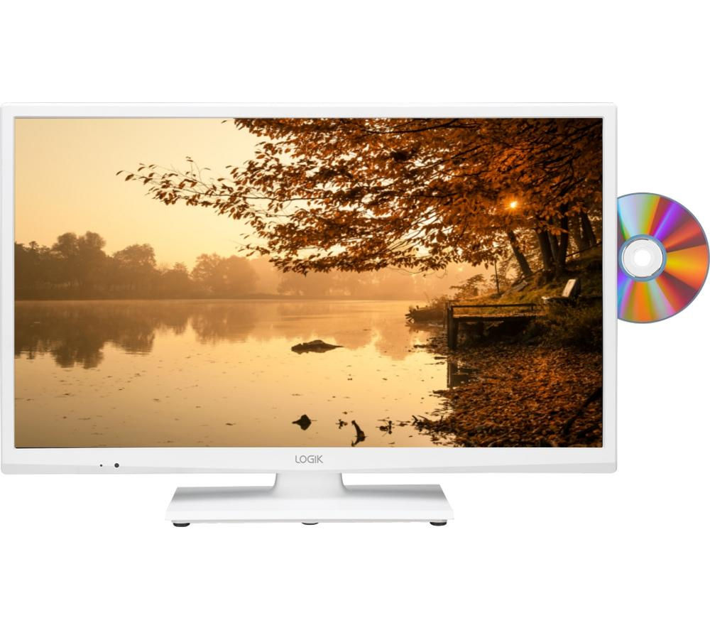 Logik L24HEDW15 24 Inch LED TV with Built in DVD Player White