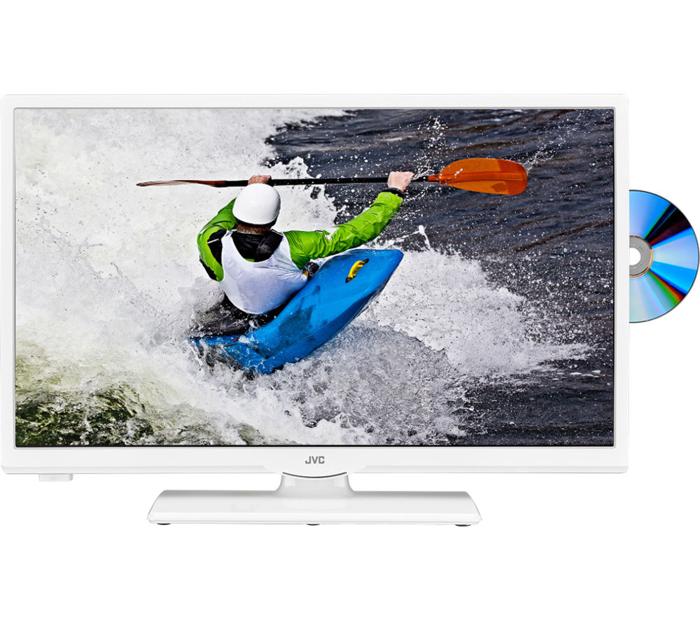 JVC LT24C656 Smart 24 Inch LED TV with Built-in DVD Player White