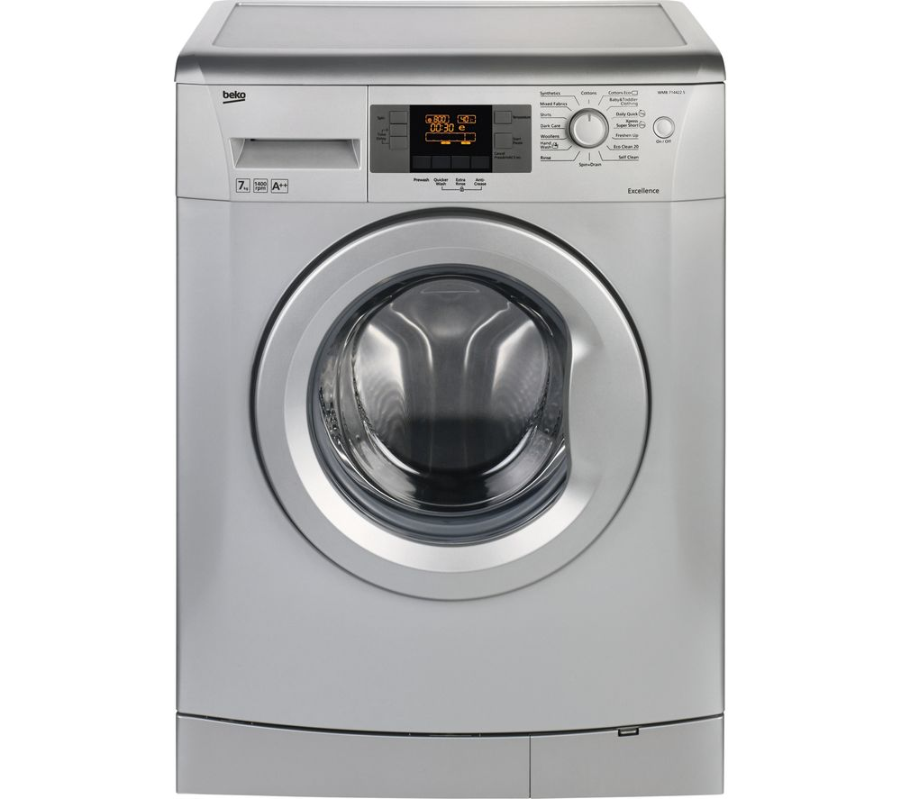 Beko WMB714422S Washing Machine Silver 7kg 1400 Rpm