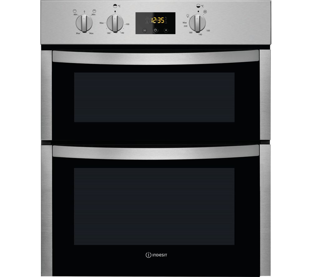 Indesit Aria DDU5340CIX Electric Built Under Double Oven