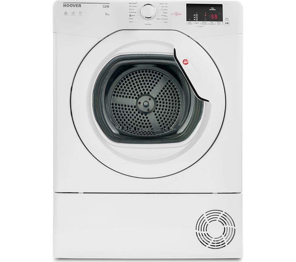 Hoover Link HLC8DCG NFC 8 kg Condenser Tumble Dryer White
