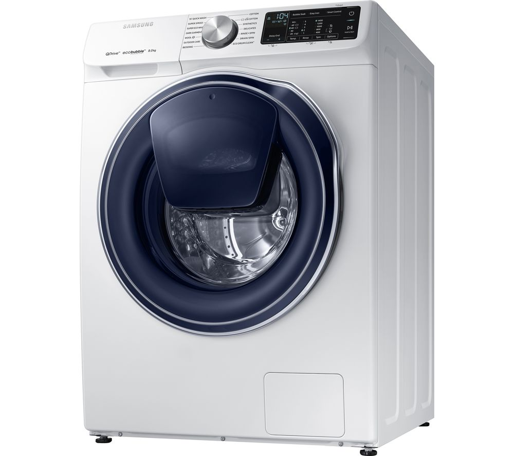 Samsung QuickDrive WW80M645OPW Smart 8 kg Washing Machine White